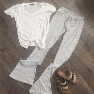 Brandy Melville soft lounge pants~ Gray~ONE SIZE
